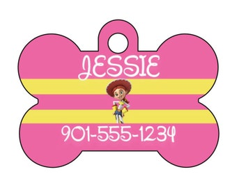Disney Toy Story Jessie Personalized Dog Tag Pet Id Tag w/ Your Pet's Name and Number
