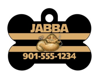 Disney Star Wars Jabba the Hutt Pet Id Dog Tag Personalized w/ Name & Number