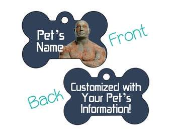 Drax | Disney Guardians of the Galaxy Double Sided Pet Id Dog Tag | Personalized for Your Pet