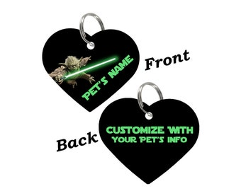 Disney Star Wars Yoda Double Sided Pet Id Tag for Dogs & Cats Personalized for Your Pet