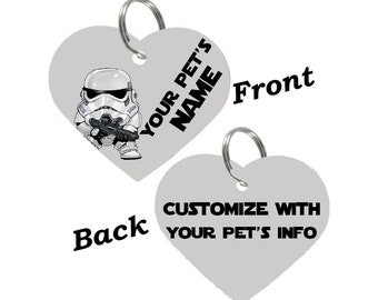 Disney Star Wars Stormtrooper Double Sided Pet Id Tag for Dogs & Cats Personalized for Your Pet