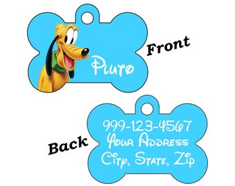 Disney Pluto Double Sided Pet Id Dog Tag Personalized for Your Pet