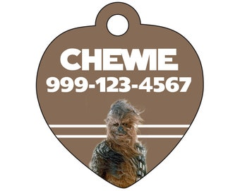 Disney Star Wars Chewbacca Custom Pet Id Tag for Dogs and CatsPersonalized w/ Your Pet's Name & Number