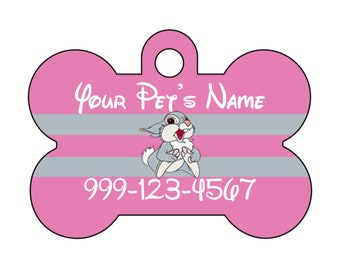 Disney Bambi Thumper Pet Id Dog Tag Personalized w/ Your Pet's Name & Number