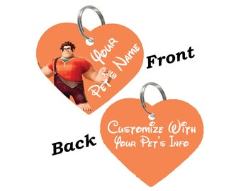 Disney Wreck It Ralph Double Sided Pet Id Tag for Dogs & Cats Personalized for Your Pet