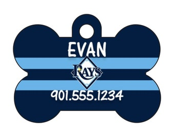 Tampa Bay Rays Personalized Dog Tag Pet Id Tag w/ Your Pet's Name and Number