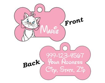 Disney Aristocats Marie Double Sided Pet Id Tag for Dogs & Cats Personalized for Your Pet