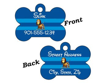 Disney Toy Story Slinky Double Sided Pet Id Dog Tag Personalized w/ 4 Lines of Text