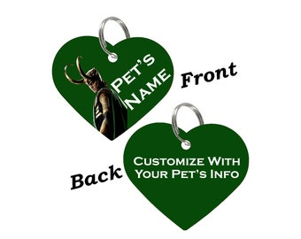 Disney Loki Double Sided Pet Id Tag for Dogs & Cats Personalized for Your Pet