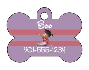 Disney Monsters Inc Boo Pet Id Dog Tag Personalized w/ Your Pet's Name & Number
