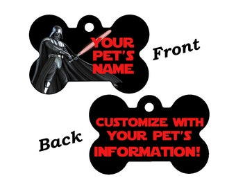 Disney Star Wars Darth Vader Double Sided Pet Id Dog Tag Personalized for your Pet