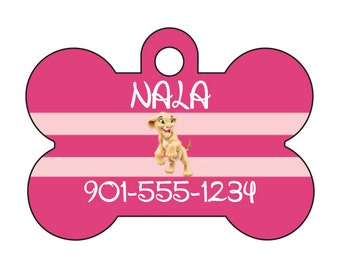 Disney The Lion King Nala Pet Id Tag for Dogs and Cats Personalized w/ Name & Number