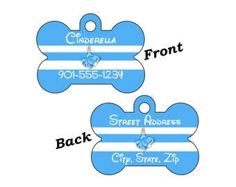 Disney Princess Cinderella Custom Double Sided Pet Id Dog Tag Personalized for your Pet