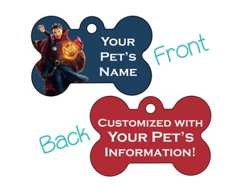 Dr Strange | Disney Marvel | Double Sided Pet Id Dog Tag | Personalized for your Pet