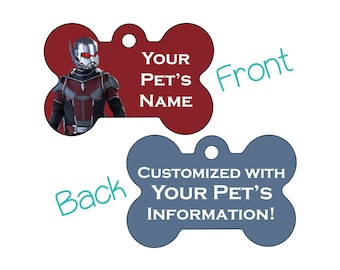 Ant Man | Disney Marvel Double Sided Pet Id Dog Tag | Personalized for your Pet