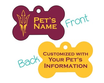 Arizona State Sun Devils 2-Sided Pet Id Dog Tag | Officially Licensed | Personalized for Your Pet