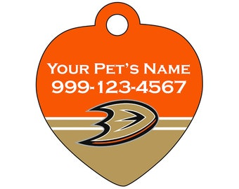 Anaheim Ducks Pet Id Tag for Dogs & Cats | Personalized for Your Pet | Fits all Dogs and Cats!