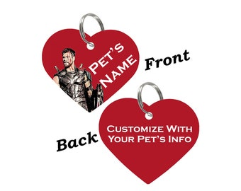 Disney Thor Double Sided Pet Id Tag for Dogs & Cats Personalized for Your Pet