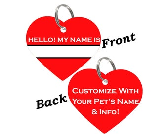 Double Sided Custom Name Tag Pet Id Tag for Dogs & Cats, Personalized for Your Pet, Available in 8 Colors!