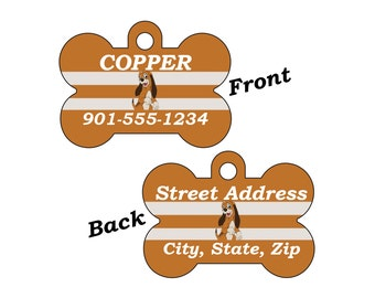 Disney Fox and the Hound Copper Double Sided Pet Id Dog Tag Personalized for your Pet