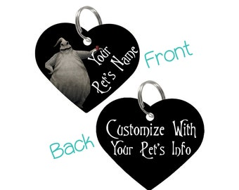 Disney Oogie Boogie Double Sided Pet Id Tag for Dogs & Cats Personalized for Your Pet