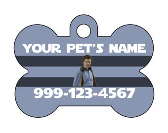 Disney Star Wars Lando Calrissian Pet Id Dog Tag Personalized w/ Your Pet's Name and Number