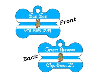 Disney Gus Gus Cinderella Double Sided Pet Id Dog Tag Personalized w/ 4 Lines of Text