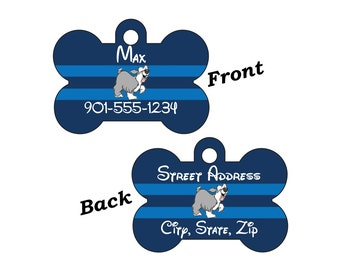 Disney Little Mermaid Max 2-SIDED Pet Id Tag for Dogs and Cats Personalized for your Pet