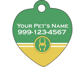 Loki Pet Id Tag for Dogs & Cats Personalized w/ Your Pet's Name and Number