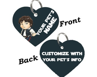 Disney Star Wars Han Solo Double Sided Pet Id Tag for Dogs & Cats Personalized for Your Pet