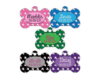 Double Sided Unicorn Pet Id Dog Tag Personalized w/ Your Pet's Name and Number
