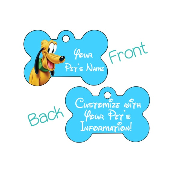 Disney 2-Sided Pet Id Dog Tag Hercules Personalized for Your Pet