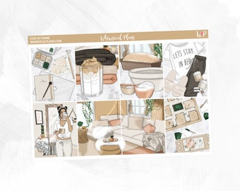 Stay at Home Collection   Planner Stickers   Vertical Planner   Horizontal Planner   Anytime Kit