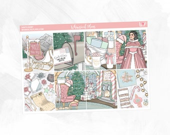 Santa Baby Collection   Planner Stickers   Vertical Planner   Horizontal Planner   Christmas Kit