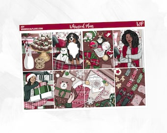 Joy Collection   Planner Stickers   Vertical Planner   Horizontal Planner   Christmas Kit