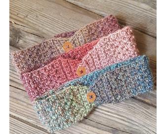 Crochet Headband Earwarmer - Ombre Colors
