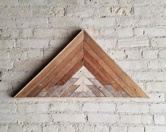 Wood Wall Art, Reclaimed Wood Wall Art, Wood Decor, Wood Art, Modern Wood Art, Rustic Decor, Wall Art, Wall Decor, Triangle Mountain Art