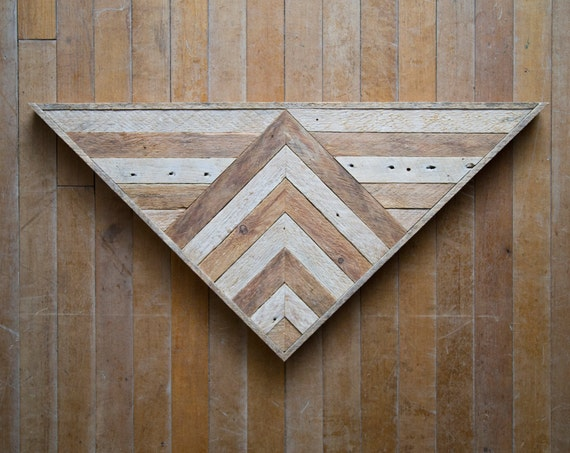 Wood Wall Art    Reclaimed Wood Wall Art   Wood Art   Rustic   Wood Decor   Geometric Wood Art  Wood Triangle   Farmhouse   Reclaimed Wood  