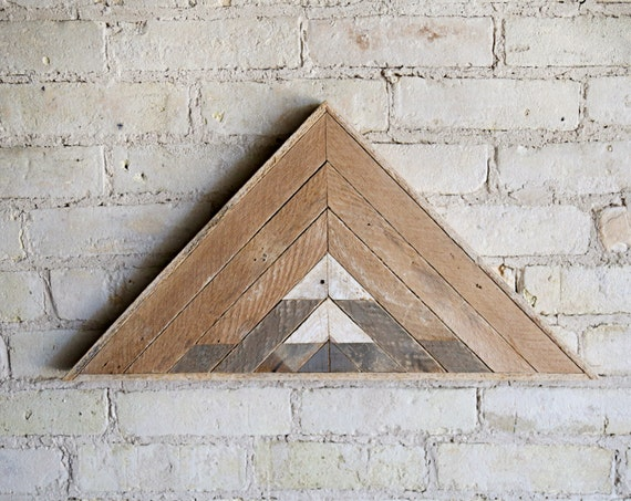 Reclaimed Wood Wall Art | Wood Wall Art | Reclaimed Wood | Wood Art | Rustic Geometric | Wood Decor | Handmade | Mountain Art Triangle Wood