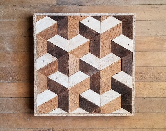 Reclaimed Wood Wall Art | Wood Wall Art | Wood Decor | Geometric Wood Art | Wood Wall Decor | Modern Wood Art | Wood Wall Decor | Wood Art |