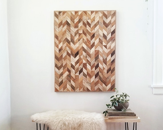 Wood Wall Art | Reclaimed Wood Wall Art | Wood Wall Decor | Reclaimed Wood Decor | Modern Art | Abstract Wall Art | Geometric Design | 30x40