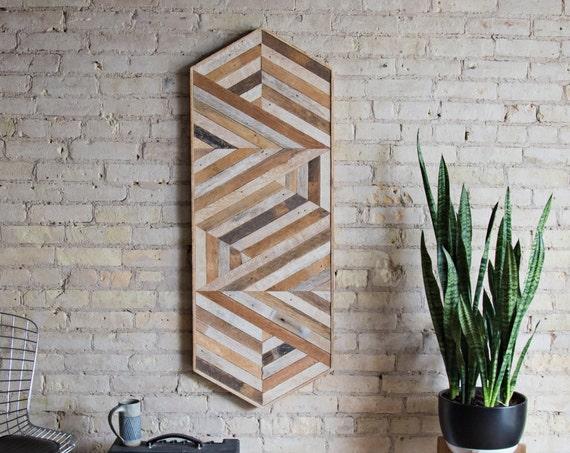 Reclaimed Wood Wall Art | Wood Wall Art  | Reclaimed Wood | Wood Art | Rustic| Geometric | Wood Decor | Diamond | Wall Decor | Modern