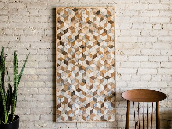Reclaimed Wood Wall Art, Wood Wall Decor, Geometric Pattern, Large Wall Art, Wood Wall Art, Minimalist Decor, Wood Sign, Modern Wood Art