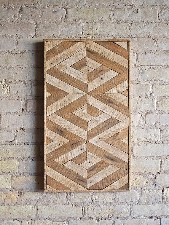 Reclaimed Wood Wall Art, Lath, Decor,Pattern, 3D, Geometric, Chevron Black Friday Sale