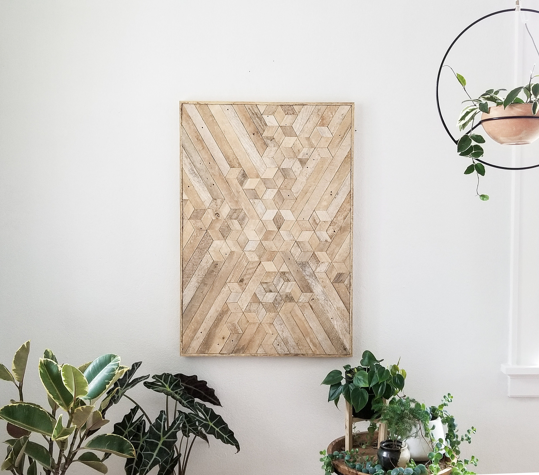 Reclaimed Wood Wall Art Wood Wall Art Wood Decor Geometric