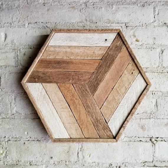 Wood Wall Art, Reclaimed Wood Wall Art, Wood Decor, Wood Wall Decor, Modern Wood Art, Cube Art, Wood Wall Decor, Rustic Decor, Geometric Art