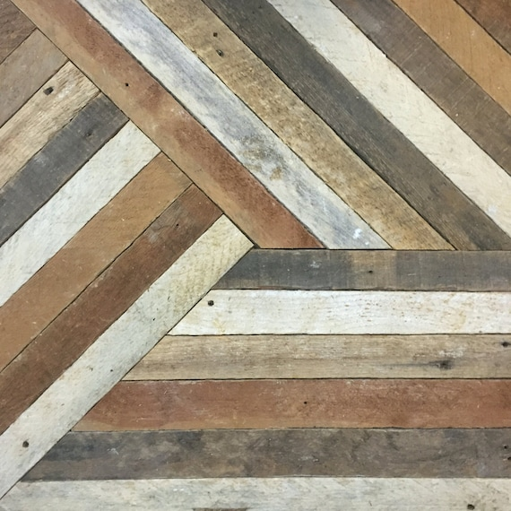 Reclaimed Wood Wall Art, Decor, Lath, Pattern, Geometric, 19 x 19 Black Friday Sale