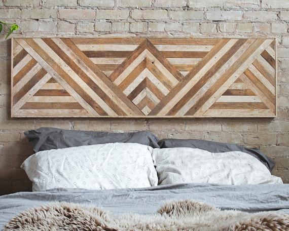 Reclaimed Wood Wall Art Queen Headboard Wood Wall Decor | Etsy