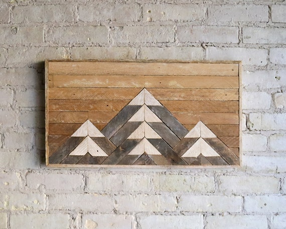 Reclaimed Wood Wall Art | Wood Decor  | Reclaimed Wood | Wood Art | Handmade Wall Art| Mountain | Wall Art | Black Friday Sale
