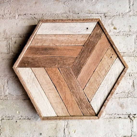 Wood Wall Art, Reclaimed Wood Wall Art, Wood Decor, Wood Wall Decor, Modern Wood Art, Cube Art, Wood Wall Decor, Rustic Decor, Geometric Art